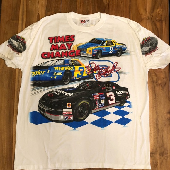 830e8ba8 Nascar Shirts | Vintage Big Graphic Shirt Dale Earnhardt | Poshmark